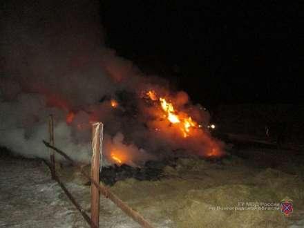 Под Волгоградом словили поджигателя 50 тонн сена