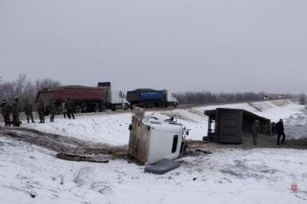 ВВолгоградской области фура врезалась вбронетранспортёр