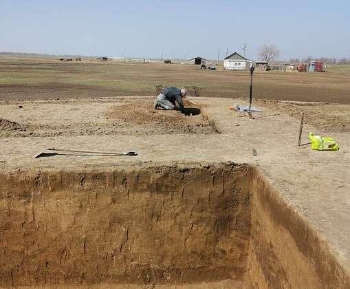 В Палласовском районе  Волгоградской области  найдены уникальные  захоронения